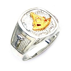 Sterling Silver Past Master Ring MASCJ319PM