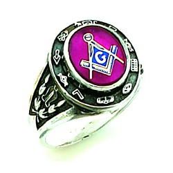 Sterling Silver Blue Lodge Ring MASCJ591