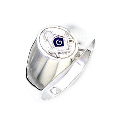 Sterling Silver Blue Lodge Ring MASCJ600