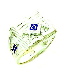 Sterling Silver Blue Lodge Ring MASCJ603