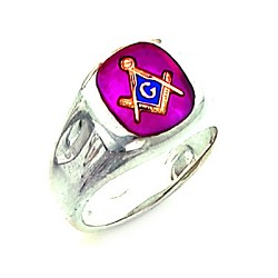 Sterling Silver Blue Lodge Ring MASCJ60335