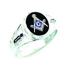 Sterling Silver Blue Lodge Ring MASCJ60341