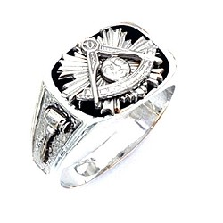 Sterling Silver Past Master Ring MASCJ631PM