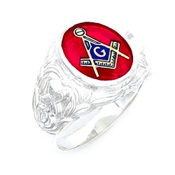Sterling Silver Blue Lodge Ring MASCJ705