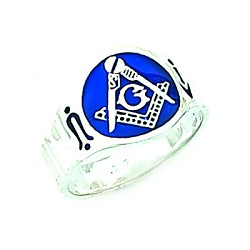 Sterling Silver Blue Lodge Ring MASCJ792000